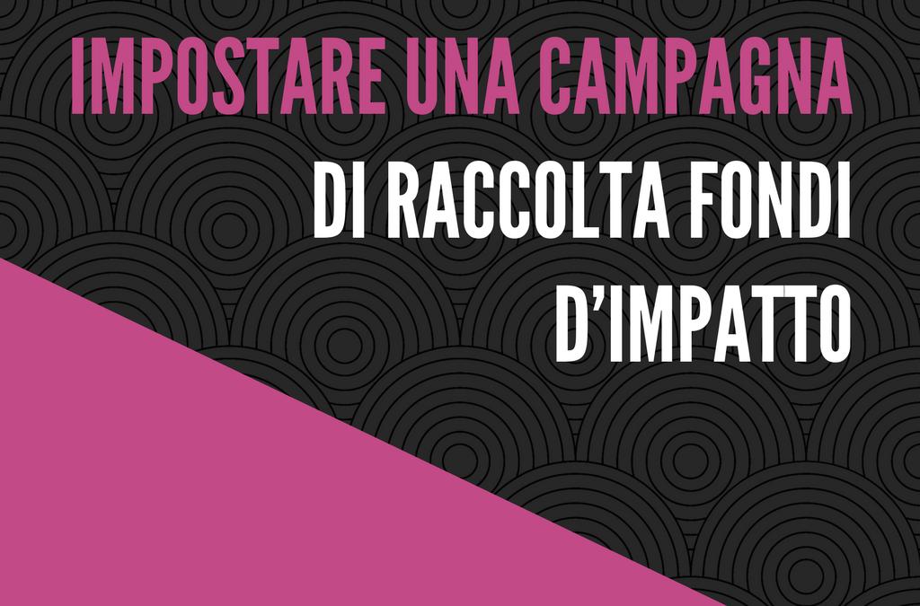 Impostare una campagna di raccolta fondi d'impatto